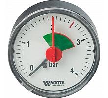 Watts  F+R101(MHA) 50/4x1/4 Манометр аксиальный  50мм, 0-4 бар