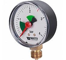 Watts  F+R201(MHR) 63/4x3/8 Манометр радиальный  63мм, 0-4 бар