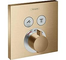 Термостат для ванны Hansgrohe ShowerSelect на 2 потребителя 15763140