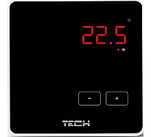 TECH  Беспроводной комнатный терморегулятор черный