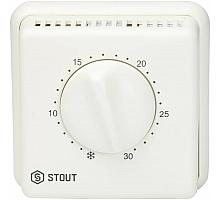 STOUT STE-0001 Комнатный проводной термостат TI-N с переключателем зима-лето и светодиодом