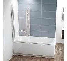 Шторка для ванны Ravak CVS1-80 L (белый + транспарент) 7QL40100Z1