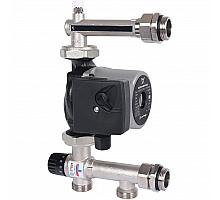 STOUT  Насосно-смесительный узел с термостатическим клапаном 20-43°C жидкокристаллическим термометром, с насосом UPSO 25-65, 130 mm