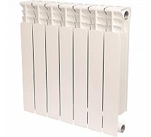 STOUT  Space 500 7 секций радиатор биметаллический боковое подключение RAL9016